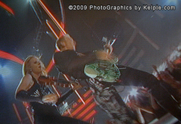 Fiddler Caitlin and Phil Collen